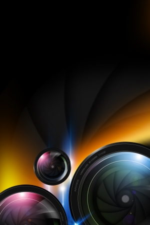 Photo Background. Photography Lenses Background. Photography Backdrop Concept.