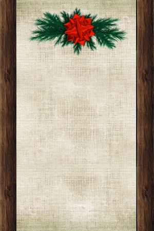 Christmas Canvas Background with Wood Elements and Holidays Ornaments. Christmas Backdrop Illustration. illustration