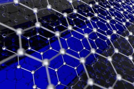chemic: Graphene Sheet Illustration. 3D Model of Graphene Molecule Structure.