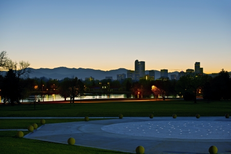 Denver Dusk. Denver Skyline, Colorado, United States. photo