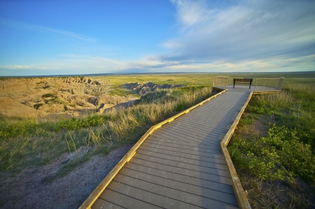 Badlands Vista Point. The View Point in South Dakota Badlands National Park. United States. photo