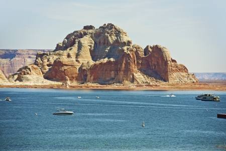 lake powell: Lake Powell Reservoir on the Colorado River in Northern Arizona State, United States. Popular Vacation Destination.