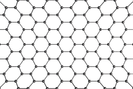 chemic: Structural Mesh. Molecular Structure Isolated on White. Stock Photo