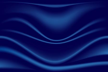 material: Blue Folded Textile Backdrop. Dark Blue Material Illustration.