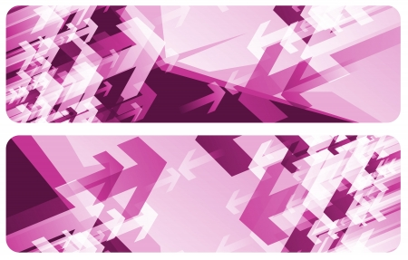 Purple Arrow Abstract Banner Backgrounds. Two Composition to Choose From. Фото со стока