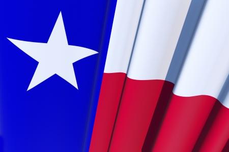 bandiera stati uniti: Bandiera del Texas, Stati Uniti d'America. 3D Texas Flag rendering illustrazione. Archivio Fotografico