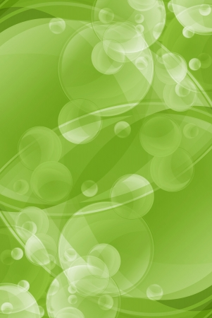 soaping: Green Bubbles Abstract Background Illustration. Vertical Design. Stock Photo