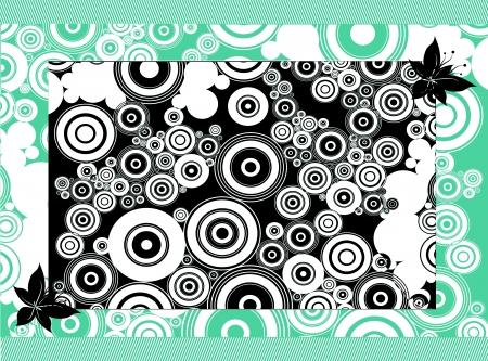 rotations: Abstract Circles Backdrop Art Illustration. Blue and Black Colors. Stock Photo