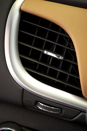 interior desing: Air Condition Car Vent Closeup.  Stock Photo