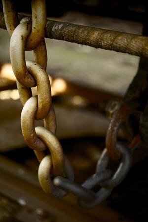 Large Heavy Iron Chain Closeup Vertical Photo. Stok Fotoğraf