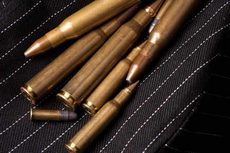 attacker: Different Caliber Bullets Closeup.
