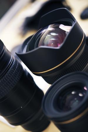 imaging: Pro Photo Lenses Closeup. Modern Photography Technology