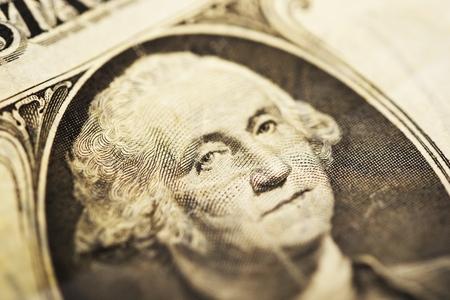 George Washington op One American Dollar Bill. George Washington 11 februari 1731 - 14 december 1799