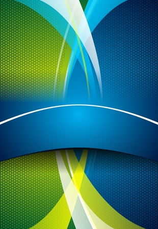 Abstract Background Illustration. Blue and Green Corporate Abstract Vertical Backdrop.