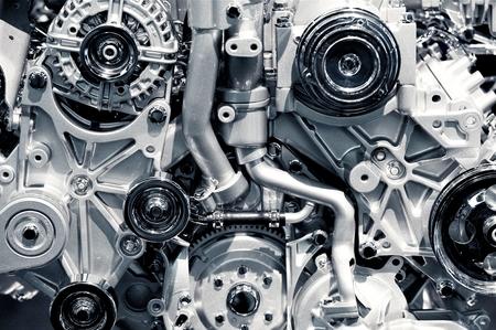 explosion engine: Gas Engine Closeup Background Photo. Car Engine.