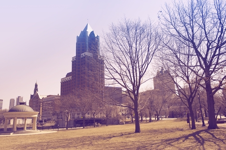 ultraviolet: Milwaukee Park. Milwaukee, Wisconsin, United States. Ultraviolet Color Grading.