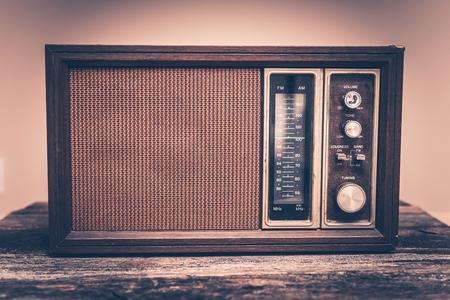 Vintage Wooden Radio. Early 80s Radio