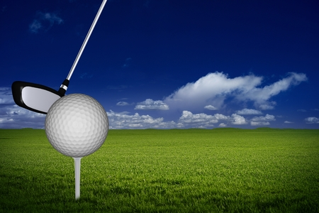 Golf Background Illustration with Copy Space. Golf Course.