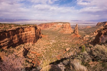 Western Colorado Raw Rocky Landscape. Grand Junction, Colorado National Monument, United States. photo