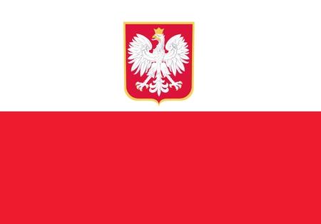 Poolse vlag vlak Illustratie. Republiek van de Vlag van Polen. Stockfoto - 27394952
