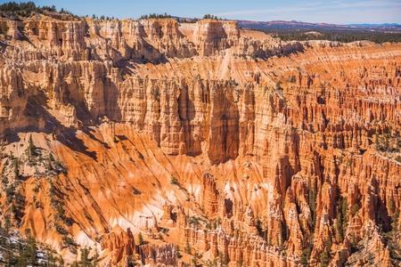Bryce National Park Landscape Panorama. Early Spring in Bryce. Utah, United States. Stok Fotoğraf