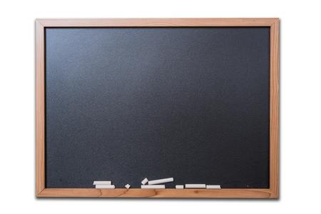 Blank Blackboard Isolated on White Background.