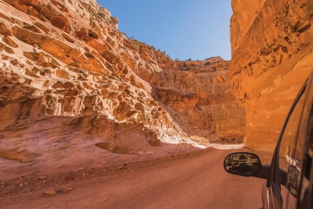 Dirty Canyon Road Drive in Utah Capitol Reef National Park, United States. Grand Wash. photo