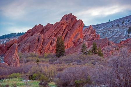 colorado state: Scenic Colorado Rock Formation. Red Sandstone Formation in Roxborough State Park in Littleton, Colorado, United States