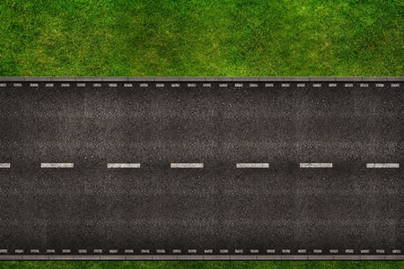 Two Lanes Two Ways Road From Above Background Illustration