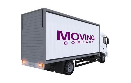 Moving Company Truck Illustration. Cargo Truck Rear View  illustration