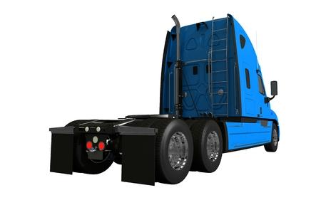 半トラックの後部は、白い背景の上の図を分離しました。