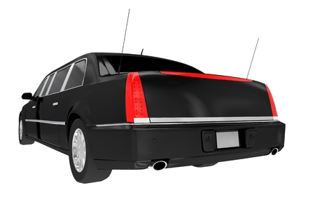 limo: Limousine Read View Isolated on White Background. Limo Graphic.