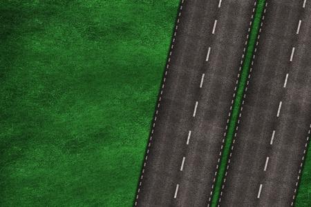 鳥の目の基本的な図から高速道路。 写真素材