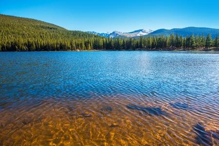 evans: Mountain Lake in Colorado. Echo Lake near Mount Evans. Colorado, United States
