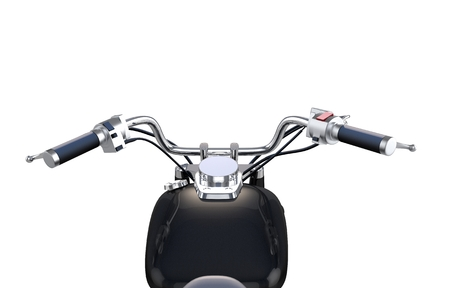 Motorcycle Bar Isolated on Solid White Background. Stok Fotoğraf