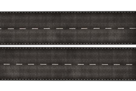 高速道路図白で隔離 写真素材