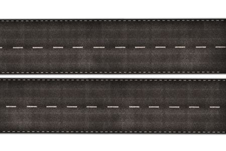 two way: Highway Illustration Isolated on White
