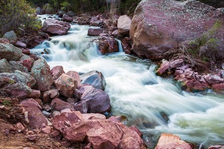rushing water: Spring Water Colorado Mountains Stream