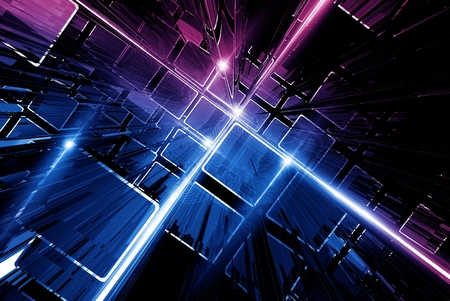 pinky: Technology Circuit and Shiny Glowing Bars Abstract Technology Background.