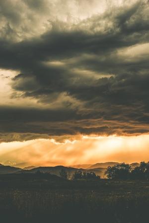front range: Stormy Front Range Landscape in Colorado, United States.