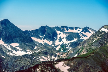colorado rocky mountains: Mountain Range Landscape. Colorado Rocky Mountains Panorama.
