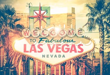 Las Vegas Boulevard Entrance Sign.  Editorial