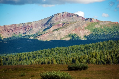 Colorful Colorado Summits. Colorado Rocky Mountains Summer Landscape Near Vail Pass Summit County, USA.