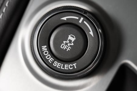 Driving Mode Selection Button Closeup.