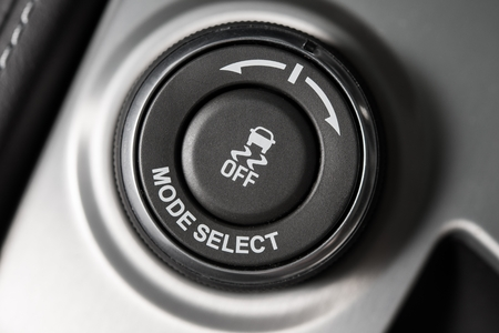 switcher: Driving Mode Selection Button Closeup.