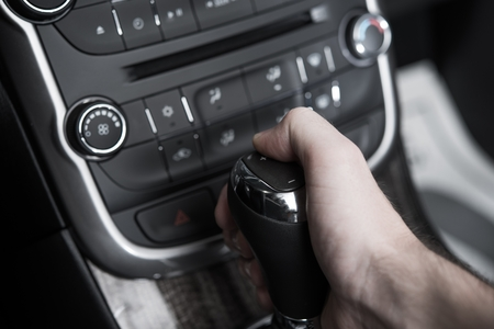 Automatic Transmission Drive Electronic Gear Change by Button. photo