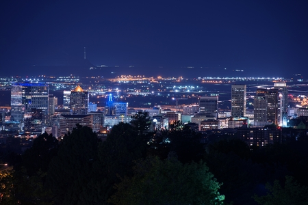 Sale Lake City Utah at Night. Salt Lake City Skyline photo