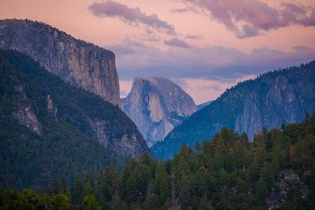 granite park: Half Dome in Yosemite National Park. Sierra Nevada Mountains.