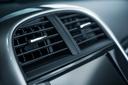 vents: Modern Car Air Vent Closeup. Air Quality in a Car. Cooling and Heating Car Vents.