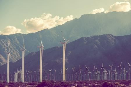 mill valley: Power Plant Scenery. Wind Turbines in Coachella Valley, California, USA.